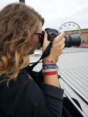 Senior Grace Buckingham takes photos for the journalism competition Sept. 13.