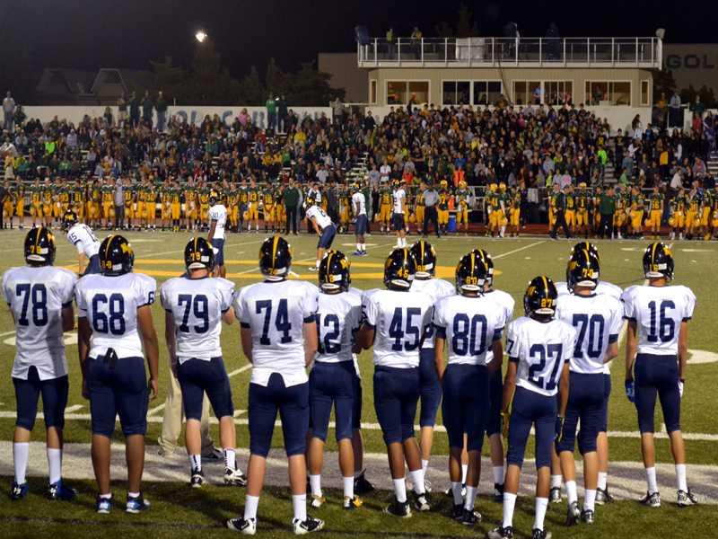Varsity Football take on Bishop Carroll at Carroll stadium on Oct.14.