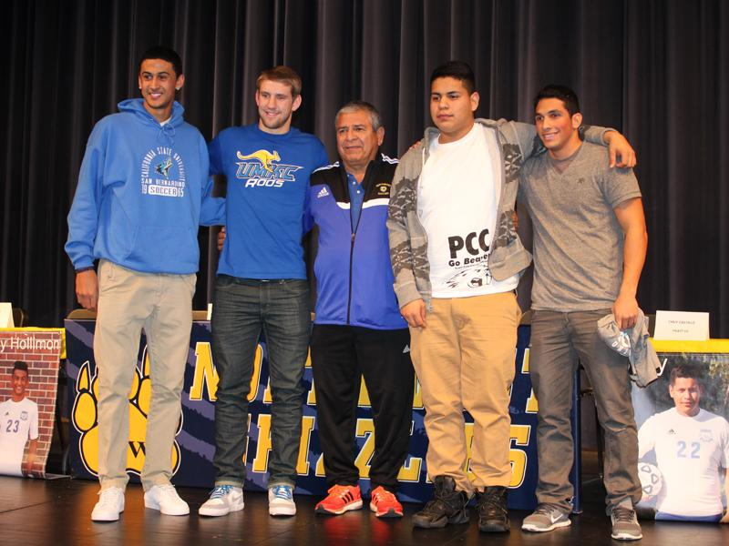 Soccer players sign letters of intent