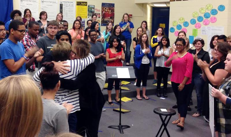 Choir students support grieving instructor