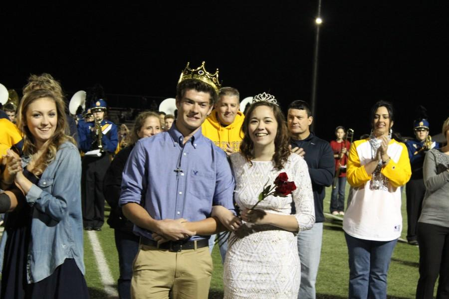 Seniors Andrew Minter & Holly Brown win the King & Queen title.