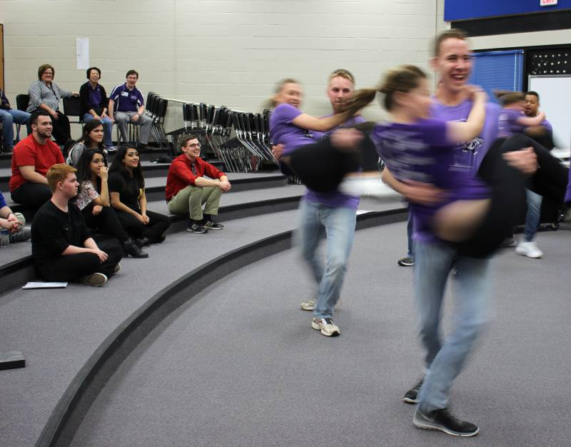 K-State Singers perform for choir students on  April 1.