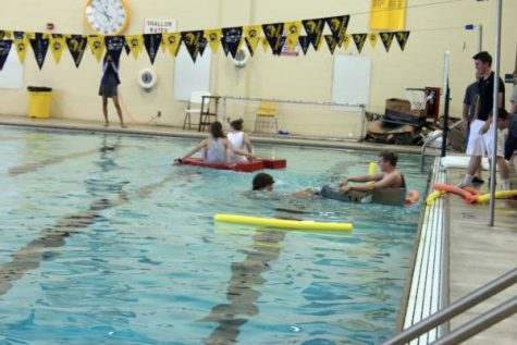 the physics students sink like the titanic during boat races