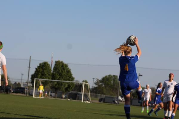 Madison Driskill takes throw-in.