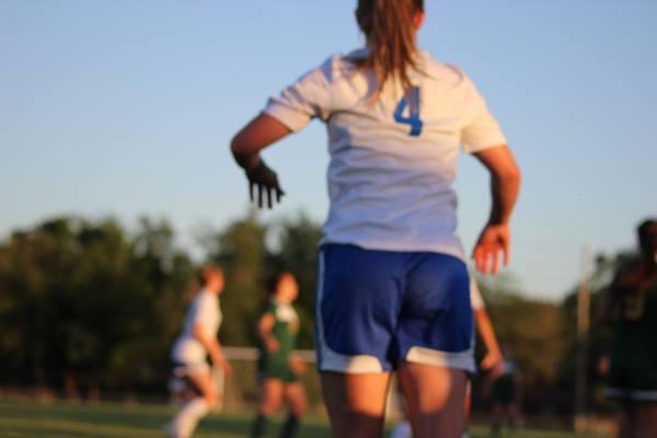 Northwest girls varsity  soccer, Madi Driskill (10) takes throw-in.