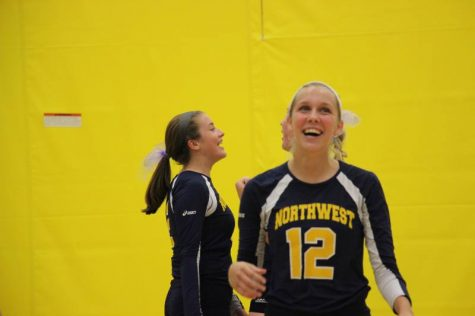 Senior Katie Darnell smiles after the play.