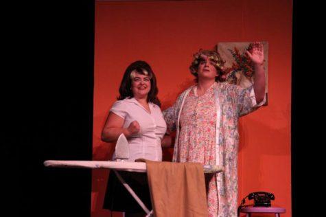 Senior Elis Thompson and Senior Antonia Fenton envisioning Tracy's success.