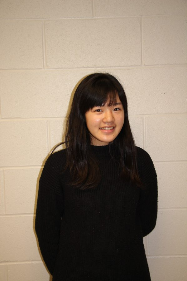 Senior, Kanako Daicho, poses for a photo.