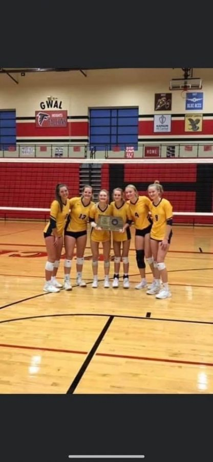 Three sets of siblings played on this year's varsity volleyball team. The team won their 6A sub-state championship.
